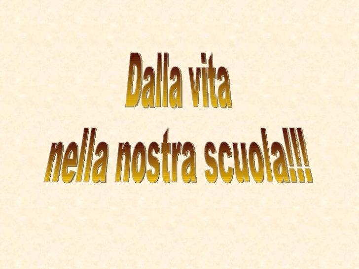 Dalla vita  nella nostra scuola!!!