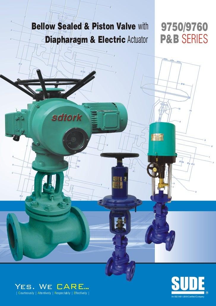 9750 9760 bellow sealed & piston valve with actuator