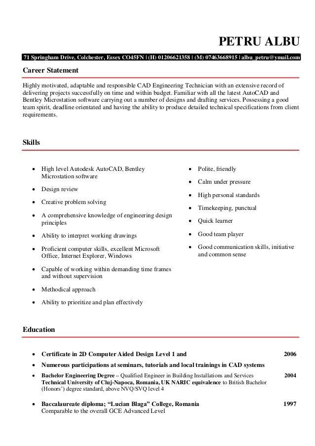 Cad Designer Resume] Cad Designer Resume, Cad Designer Resume Cad ...