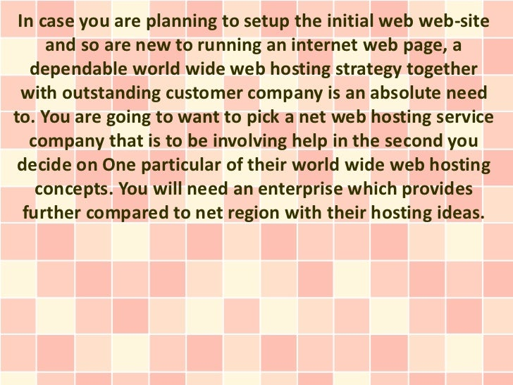 In case you are planning to setup the initial web web-site     and so are new to running an internet web page, a   dependa...