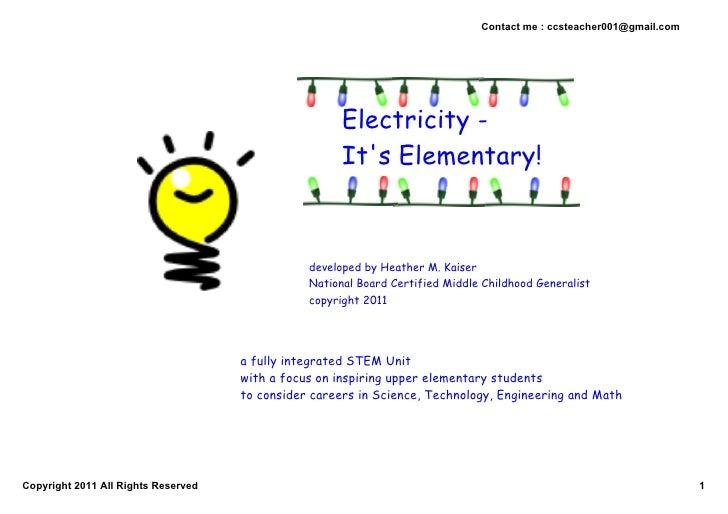 5 E's Unit Plan - Electricity - It's Elementary