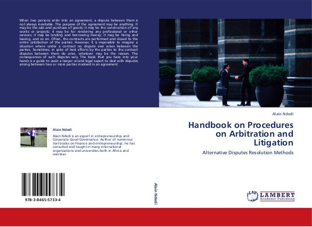 Handbook on Procedures on Arbitration and Litigation