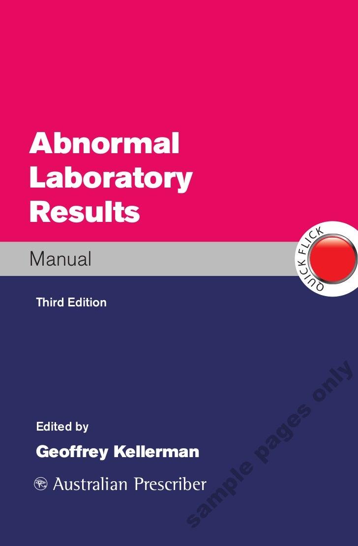 New Book: Abnormal Laboratory Results, Geoffrey Kellerman