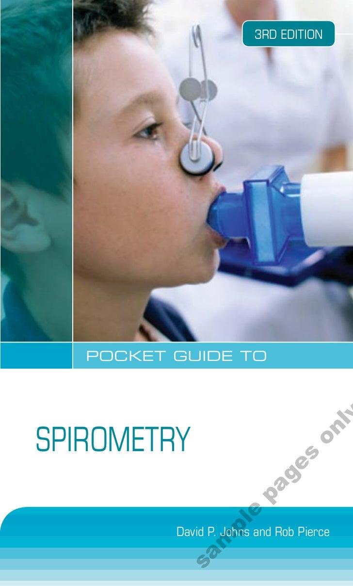 New Book: Pocket Guide to Spirometry, David Johns & Rob Pierce