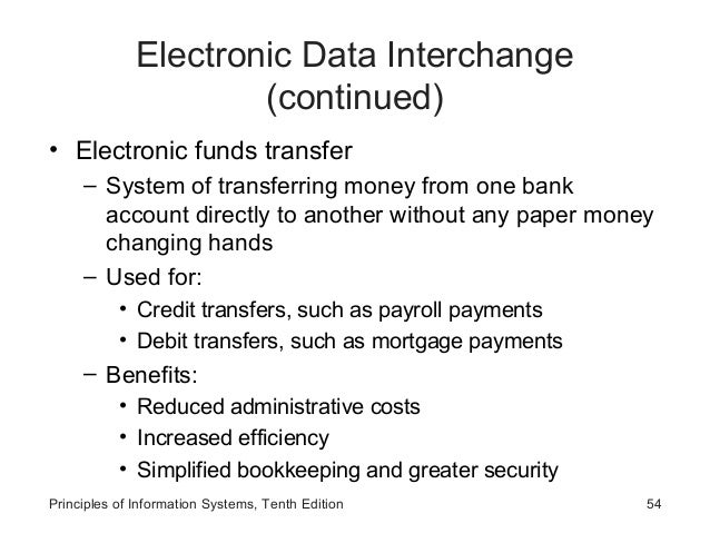 what is the difference between a electronic data interchange and a electronic funds transfer Check out this article to learn the key differences between ach, edi & eft and why it is such a common (electronic funds (electronic data interchange.