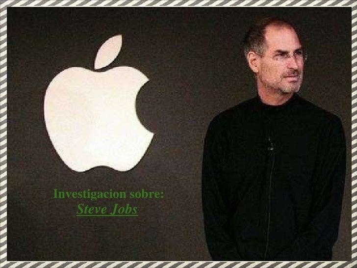 Steve Jobs : Florencia Terceros