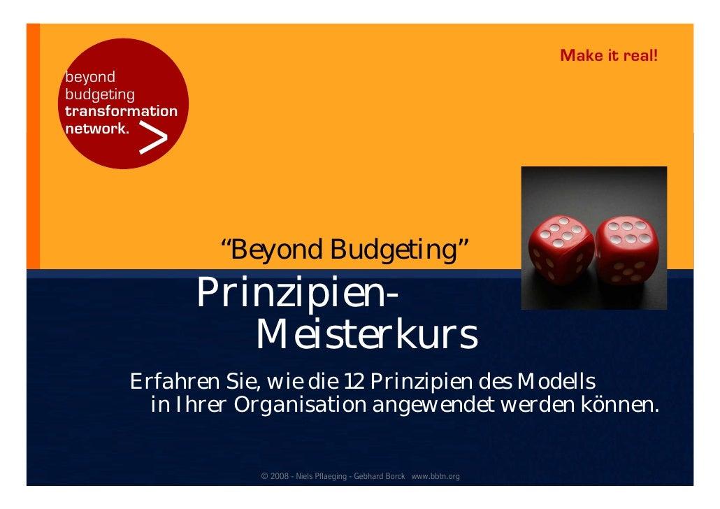 "Make it real! beyond budgeting           > transformation network.                       ""Beyond Budgeting""               ..."