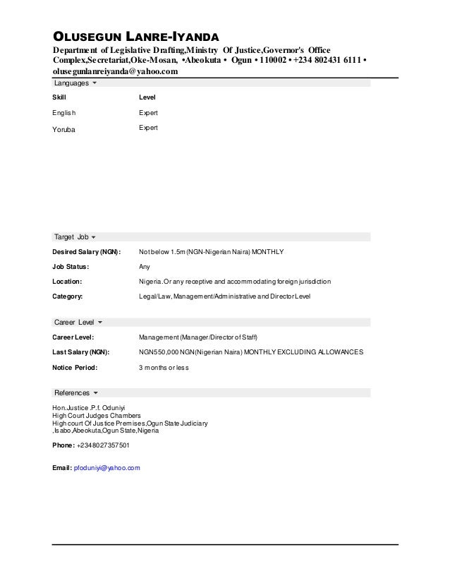 how to write a good resume example of good resume