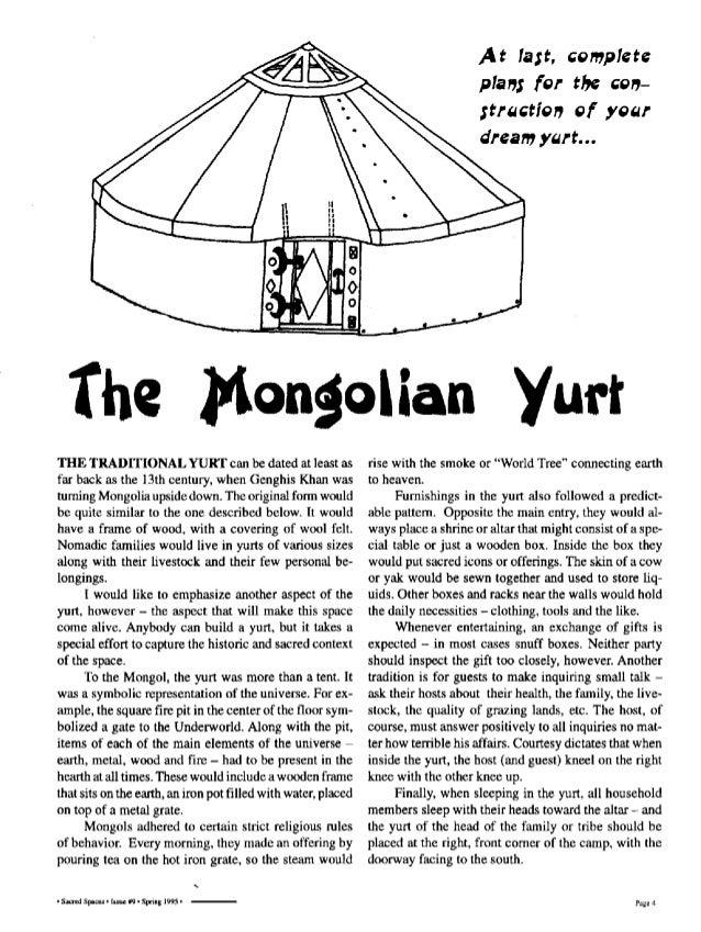 The Mongolian Yurt