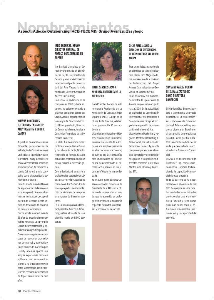 Aspect, Adecco Outsourcing, ACE-FECEMD, Grupo Avanza, Zasylogic                                      IKER BARRICAT, NUEVO ...