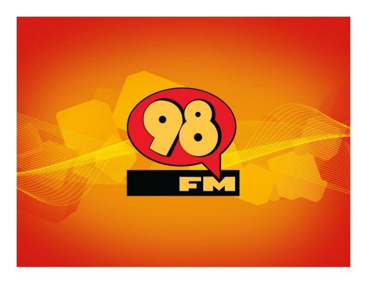 APRESENTAÇÃOA 98 FM foi implementada pelo Grupo Bel em 1969, e já entrou no ar fazendo história. Foi a primeira FMestéreo ...