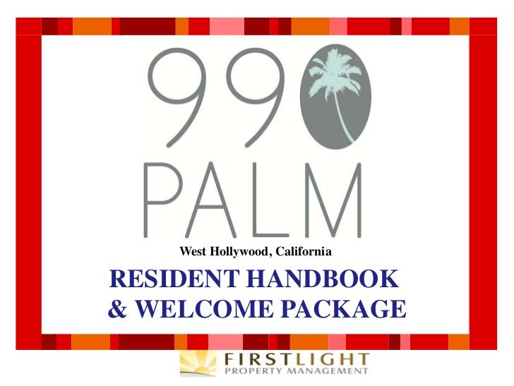 990 Palm Ave Apartments - Resident Handbook