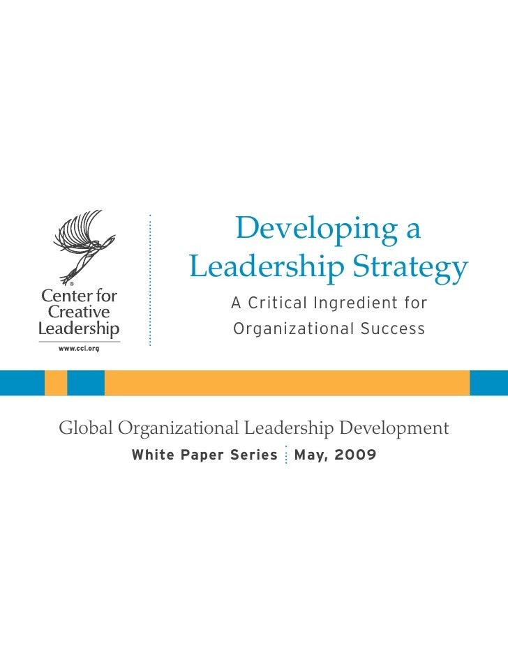 Strategi Kepemimpinan
