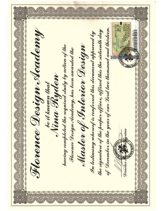 Diploma Nina Rydén