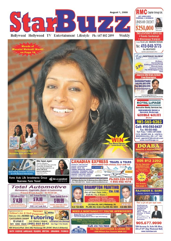 Moods of  Masala! Mehndi! Masti!       on Page 14    Interview withNandita Das on Page 11