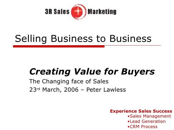 Selling Business To Business - Enterpreneurship Program