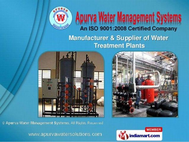 Apurva Water Management Systems Gujarat,India
