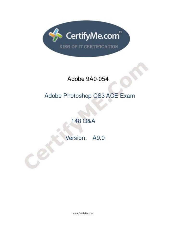 Adobe 9A0-054                                 Adobe P...