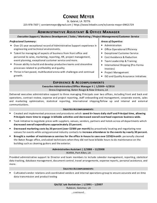 connie meyer resume
