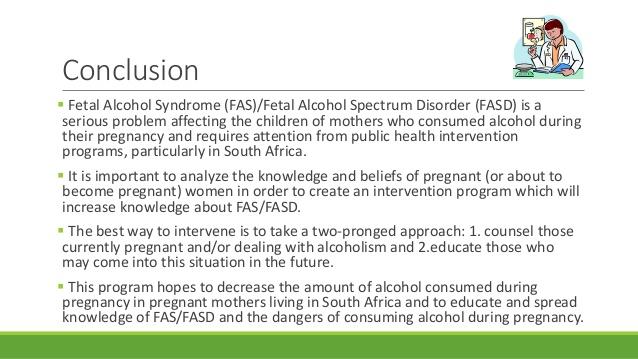 alcohol fetal syndrome thesis