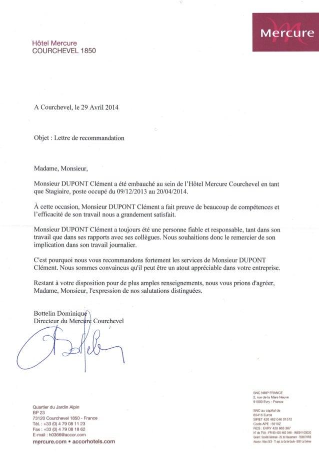 recommendation lettre