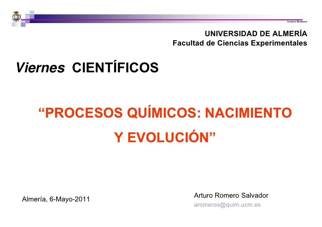 Arturo Romero                                     UNIVERSIDAD DE ALMERÍA                             Facultad de Ciencias ...