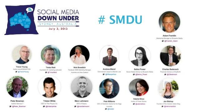 Adam Franklin Social Media Down Under - opening address
