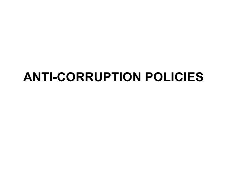 Anti Corruption By Talha Lodhi