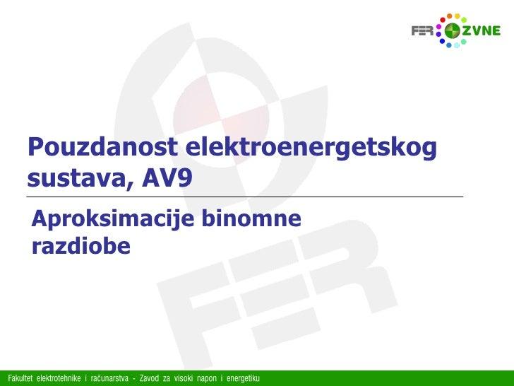Pouzdanost elektroenergetskog sustava, AV9 Aproksimacije binomne razdiobe