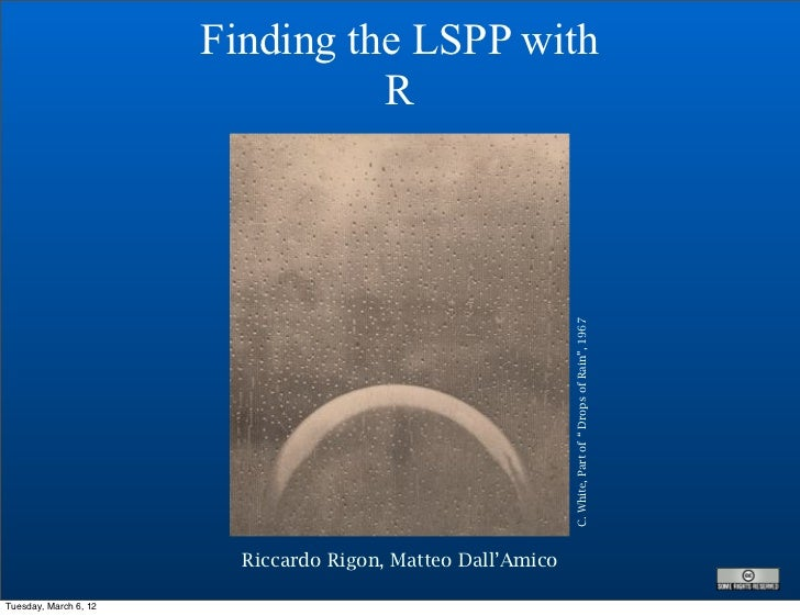 Finding the LSPP with                                 R                                                             C. Whi...