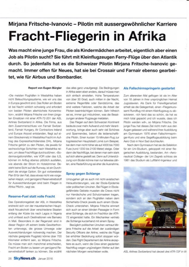 Frachtfliegerin in Afrika
