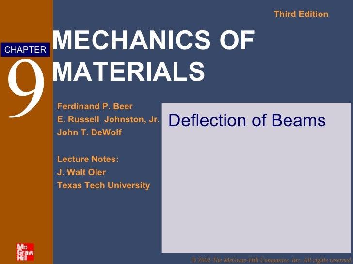 9 Deflection of Beams