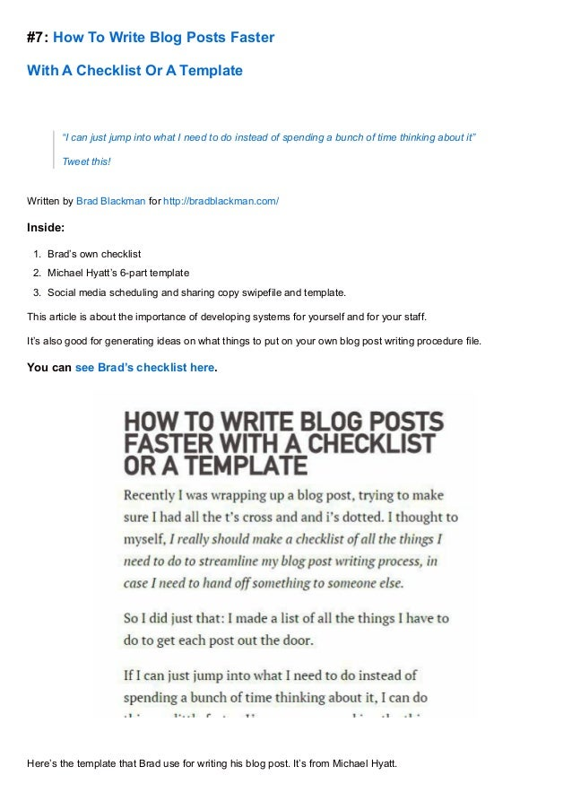 How to write good blogs