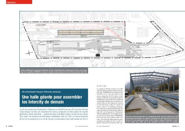6batimag N° 12, jeudi 18 décembre 2014 N° 12, jeudi 18 décembre 2014 batimag7 Le site du constructeur Bombardier à V...