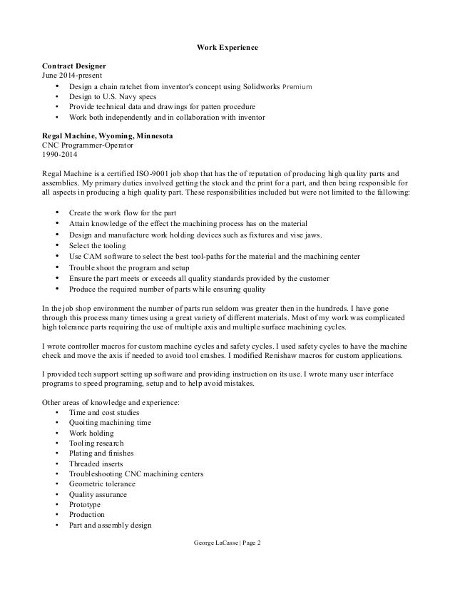Work Experience Contract
