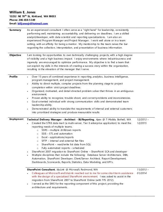 Resume jones