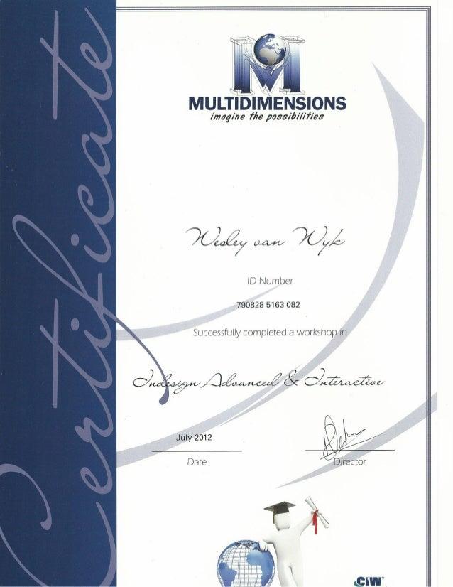 Multidimensions Certificates