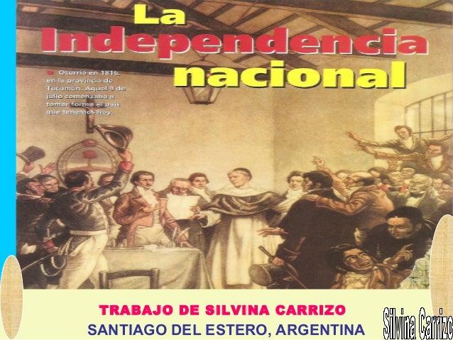 TRABAJO DE SILVINA CARRIZO SANTIAGO DEL ESTERO, ARGENTINA