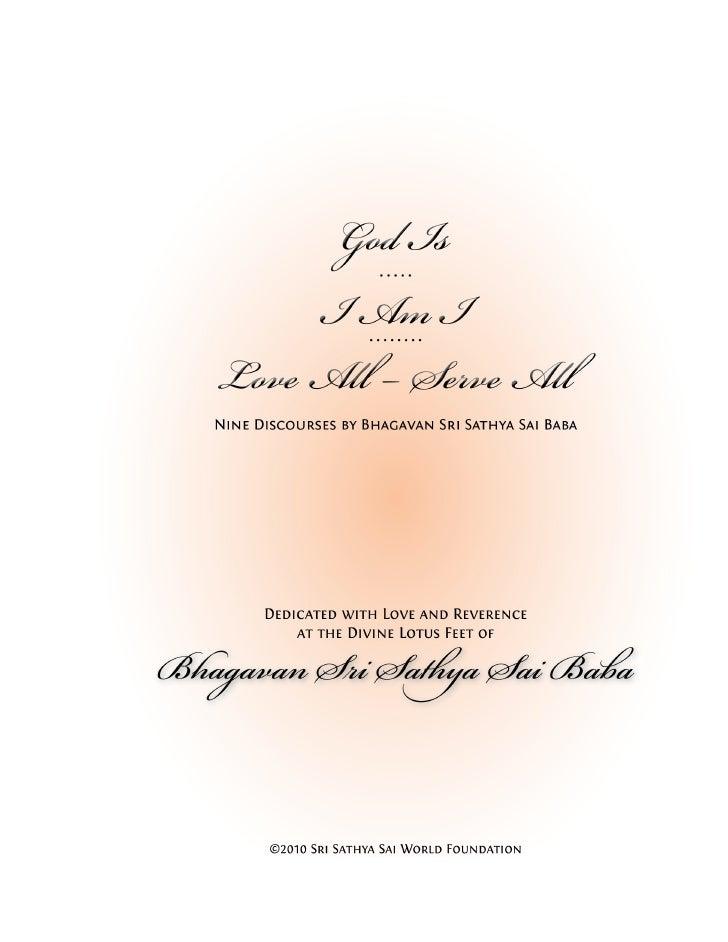"""God Is""                              Om Sai Ram                      The Five-Letter Mantra     Discursos Seleccionados s..."