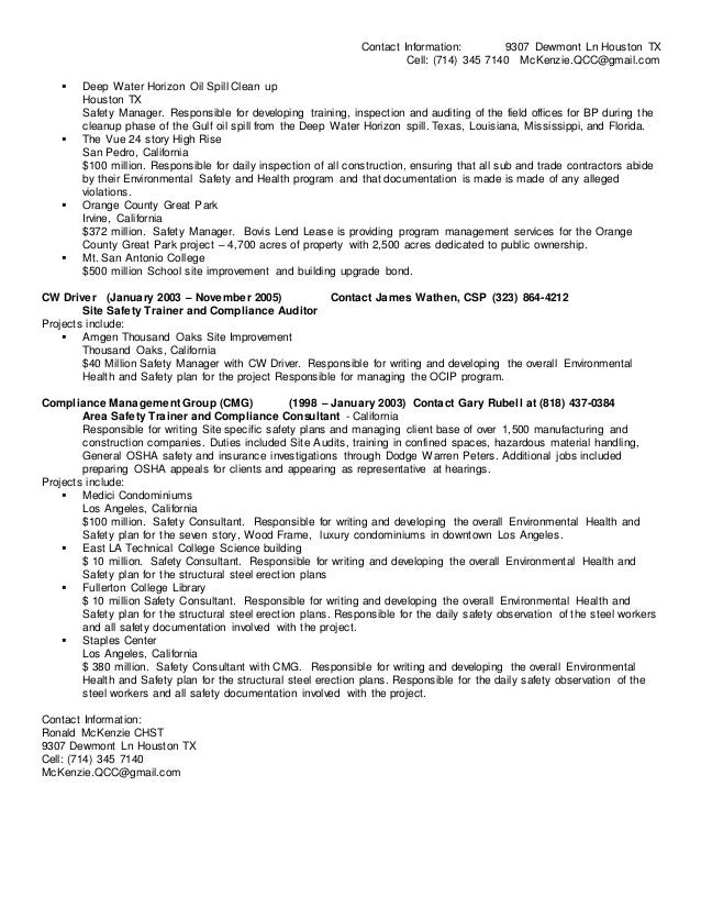 resume hazardous materials specialist hazmat first responder