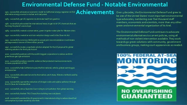 mcdonalds and the environmental defense fund Much green business literature, both academic and practitioner-oriented, views alliances between business and ecology groups as exemplifying a paradigm shift from command and control to a.