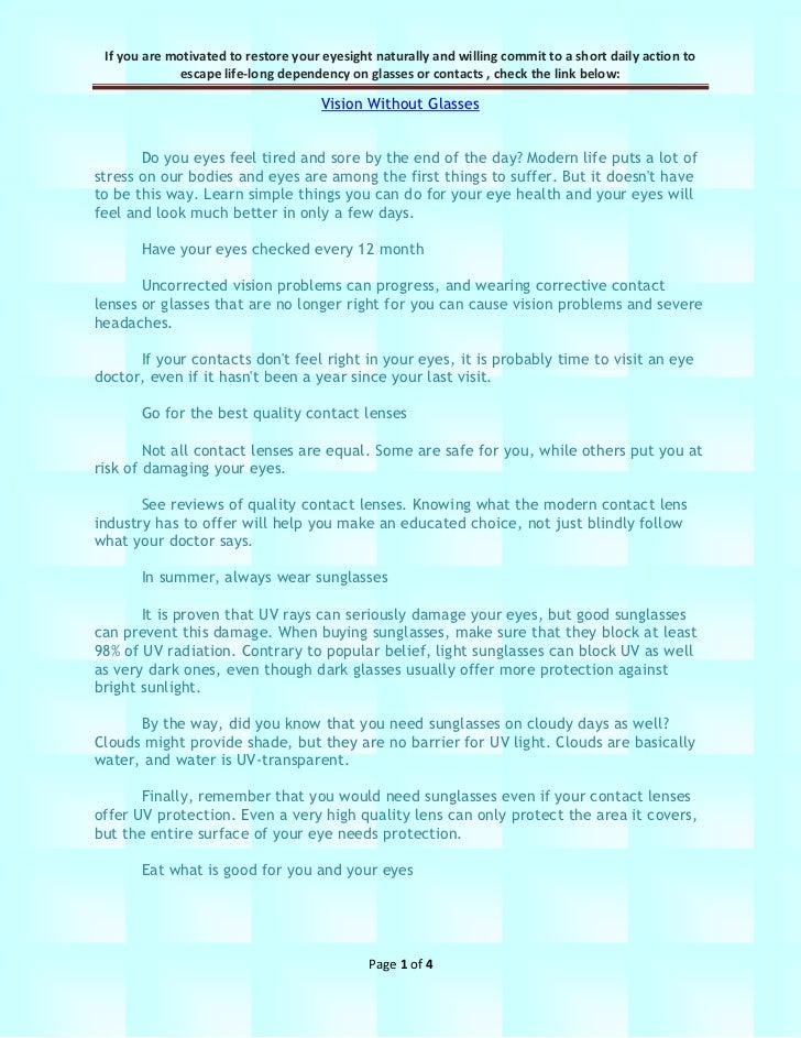9 Easy Methods For Healthy Eyes