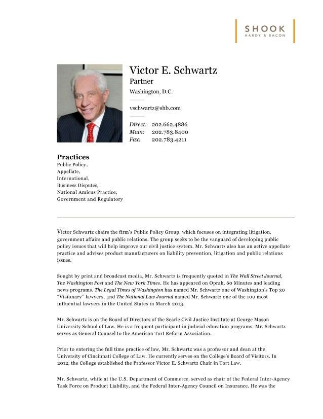SHB Bio - Victor Schwartz