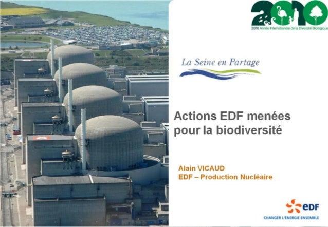 Actions EDF menées pour la biodiversité