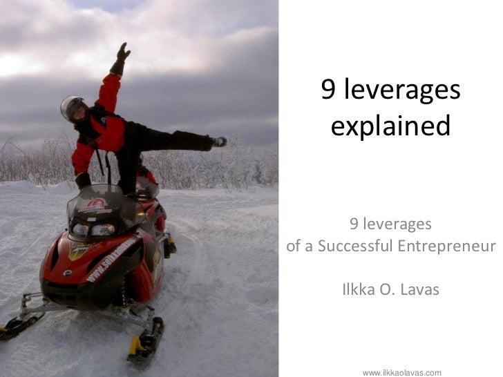 9 entrepreneurial leverages (explained)