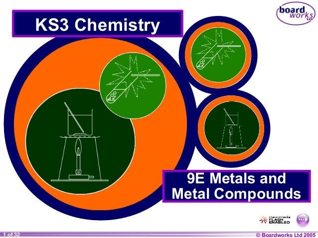 © Boardworks Ltd 20041 of 20 © Boardworks Ltd 20051 of 32 KS3 Chemistry 9E Metals and Metal Compounds