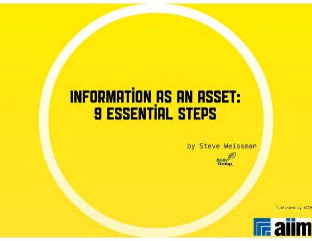 Information as an Asset: 9 Essential Steps