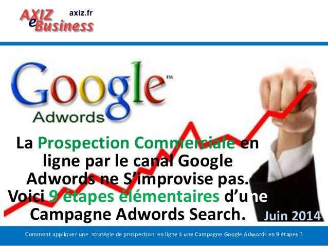 Comment appliquer une stratégie de prospection en ligne à une Campagne Google Adwords en 9 étapes ? La Prospection Commerc...