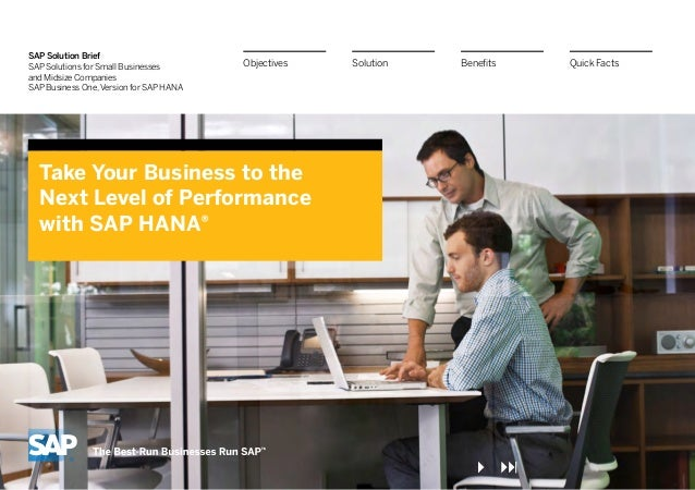 sap solutions for small businesses and Sap solution in detailsap solutions for small businesses and midsize  companiessap business all-in- table of contents 4 quick facts 9 one.
