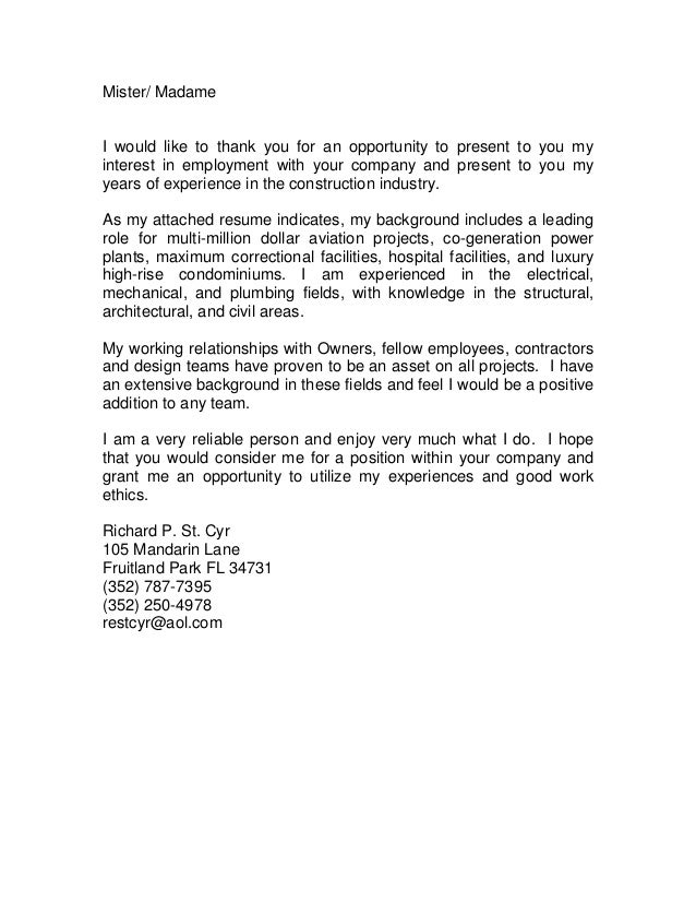 combine cover letter and resume